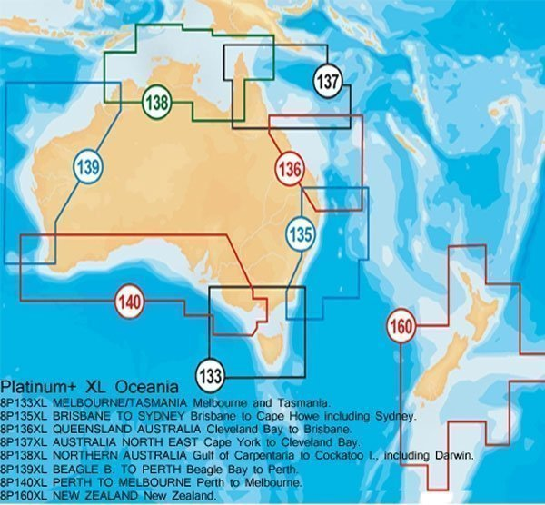 Navionics XL Platinum Zones - Click here for full details