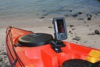 StarPort HD fits into the brass insert pattern on the Ocean Kayak Prowler range