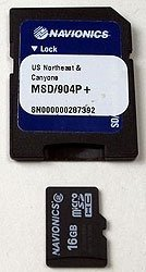 Note: All Navionics SD Cards come with a SD Card adaptor. Cards purchased with the units will be in the larger SD Format, with a removable Micro SD Card inserted into it.