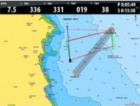 Navigation made easy with laylines (What are laylines?) sailing data overlaid on chart screen