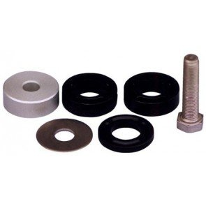 Spacer Kit (293690), includes a selection of spacers, washer and bolt to enable 291003 front mount pivot cylinder to fit different outboard brands and models.
