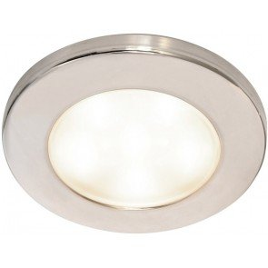 Hella EuroLED 95 White Downlight with Stainless Steel Rim