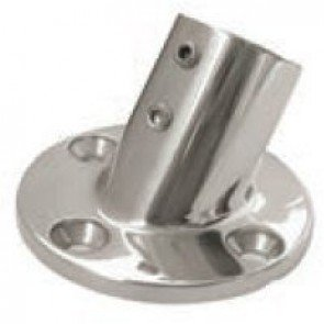 45° Stainless Steel Round Bases