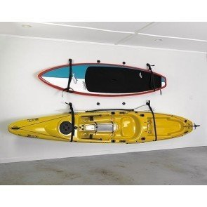Wall Sling can easily store Surf Boards and KayaksMax Hanging Weight between both slings: 60kg