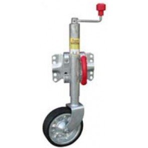 Alco Wind-Up Swing-Up Jockey Wheel - 500kg Lift Capacity
