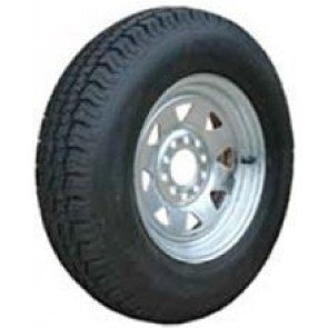 Dunbier Galvanised Multi-fit Steel Rim and Tyres