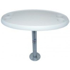 Table 765mmL x 460mmWPedestal adjustable from 500mmH to 710mmHBase 180mmD x 16mmHNote: Does not include screws